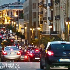 Downtown #Beirut by night وسط #بيروت ليلاً By Farah Abou Merhi  #WeAreLebanon