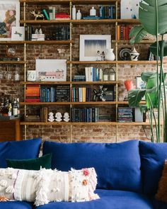 With highly-customized flourishes and gorgeously curated furnishings, Homepolish designer Tali Roth turned a young couple's first apartment together into a stunning home. Couples First Apartment, Decoracion Vintage Chic, Loft, Other Rooms, Contemporary Interior, Sweet Home, New Homes, House Design, Design Design