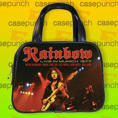 An3-rainbow Long Live Rock N Roll Handbag Purse Woman Bag Classic