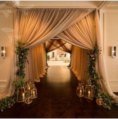 Looking for latest Outdoor Wedding Decorations? Check out the trending images of the best Indian Outdoor Wedding Decoration ideas. Wedding Reception Entrance, Wedding Ceremony, Reception Ideas, Outdoor Ceremony, Wedding Draping, Tent Reception, Marriage Reception, Wedding Reception Decorations Elegant, Wedding Walkway
