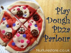 What topping would your kids put on a play dough pizza? This pretend play pizza parlor has so many possibilities for learning as you play: language, writing, math, imagination, sensory and lots of fun! Play Doh Fun, Pretend Play, Role Play, Dough Pizza, Play Dough, Art For Kids, Crafts For Kids, Little Chef, Learning Italian