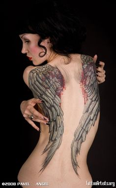 I dont like the blood, but I LOVE the design of the angel wings.