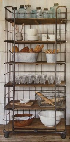 Storage Idea freestanding kitchen cabinets, kitchen storage ideas, furniture in the. -Kitchen Storage Idea freestanding kitchen cabinets, kitchen storage ideas, furniture in the. Vintage Home Decor, Vintage Kitchen, Vintage Furniture, Vintage Style, Vintage Laundry, French Vintage, Vintage Bakery, Furniture Dolly, Vintage Heart