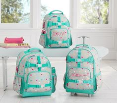 Mackenzie Gray Multicolor Heart Backpack   Pottery Barn Kids