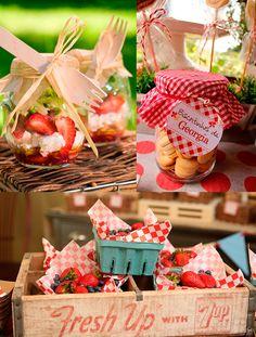 frutas em festa picnic no parque