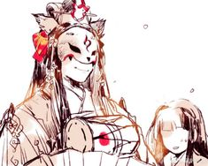 玉藻前 Ngọc Tảo Tiền Âm Dương Sư Mononoke Anime, Onmyoji Game, Tamamo No Mae, Ibaraki, Light Art, Best Games, Illustration Art, Masks, Chinese