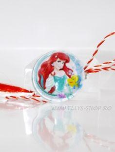 Brosa martisor pentru fetite imagine personaj Disney- Ariel