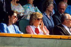Princess Diana's Wimbledon style through the years   Tatler Diana Fashion, Royal Fashion, Wimbledon Dress Code, White Pleated Tennis Skirt, Queen Victoria Descendants, Photo Stock Images, Diane, Diana Spencer, King George