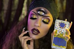 Gypsy fortune teller makeup