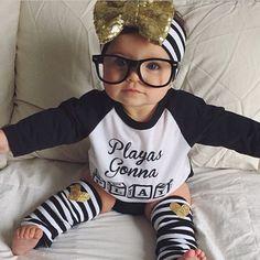 Baby girl,  glasses.