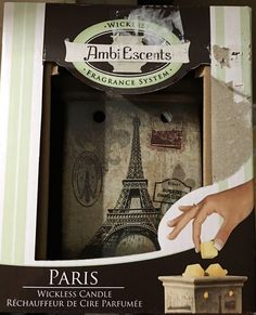 Ambi Escents PARIS Limited Edition Wickless Fragrance System Warmer New in Box  | eBay
