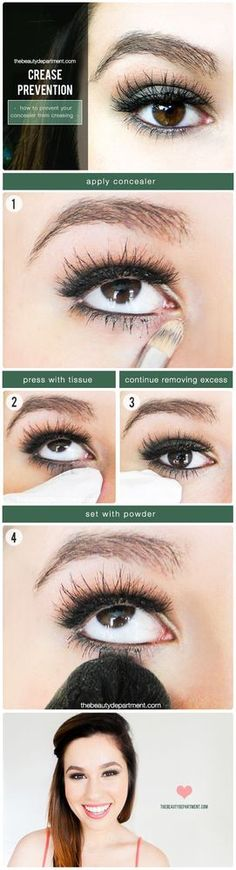 HOW TO PREVENT YOUR CONCEALER FROM CREASING | the beauty department | Bloglovin