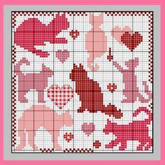 Community wall photos Cat Outline, Cross Stitch Patterns, Crochet Patterns, Thread Crochet, Wall Photos, Hobbies And Crafts, Crocheting, Needlework, Diagram