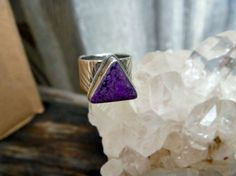 Hand Crafted Sterling Silver and Sugilite Ring by postGingerbread