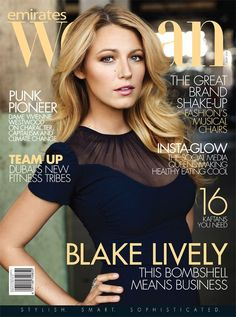 Emirates Woman July 2015 Cover | Blake Lively