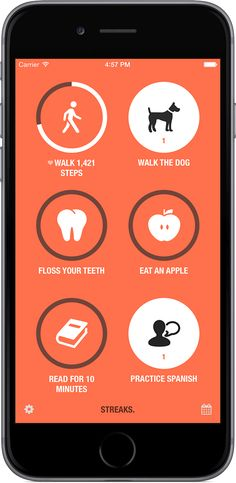 The to-do list that helps you form good habits. For iPhone. NB: I am so hesitate about paid apps Ios Design, Interface Design, Grid Design, User Interface, Graphic Design, To Do App, Apps For Teens, Iphone Hacks, App Design