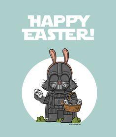 """Frohe Ostern, everyone!! Ich sitze grade an """"Star Wars Spass Wars 3"""" und kriege es nicht hin, nebenher gehirnzufurzen... Dafür gibt es immerhin bald einen Haufen neue Star Wars Quatschideen von mir..."""