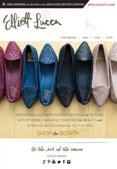 The #Bonita Flat: New Colors Have Arrived  Speaking to our deep rooted heritage in texture...
