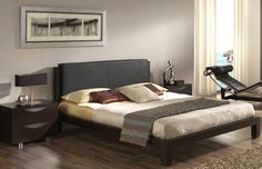 Lit en cuir #bed #leather  http://www.walterbed.com/Lit-Madrid-en-cuir-Dupen-0,,214,0.html