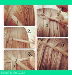 Guide to making a waterfall braid