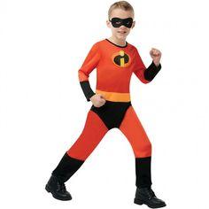 Official Disney Incredibles 2 Kids Fancy Dress Costume, Ideal for Children's Superhero Fancy Dress Parties.