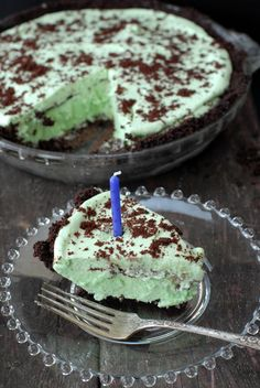 The Best Grasshopper Pie | Boulder Locavore Made w/Cream de Menthe