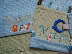 Personalized Minkee Baby Blanket & Softie set starting at $80 www.sun7designs.com  #babygift
