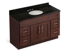 """1228$ - Ensemble meuble-lavabo 48"""" et dessus de granite noir"""