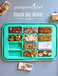 Pampered Chef Desserts, Pampered Chef Party, Pampered Chef Products, Pampered Chef Catalog, Epicure Recipes, Snack Recipes, Cooking Recipes, Protein Bar Recipes, Protein Snacks