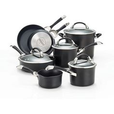 Circulon Symmetry Hard-anodized Nonstick 11-piece Cookware Set  @Overstock - Circulon offers this stylish decor cookware to accent any kitchen. This sturdy cookware set presents non-stick surfaces for cooking. Use this cookware for daily dinners or entertaining. With its tempered glass, this set is striking and efficient.http://www.overstock.com/Home-Garden/Circulon-Symmetry-Hard-anodized-Nonstick-11-piece-Cookware-Set/6243241/product.html?CID=214117 Add to cart to see special price