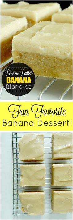 brown butter banana blondies (sweetandsavoryfood.com)