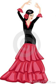 Illustration about Woman dancing spanish dance illustration. Spanish Dance, Spanish Dress, Spanish Girls, Ballet Painting, Woman Painting, Dance Silhouette, Dancing Drawings, Ballerina Art, T Shirt Painting