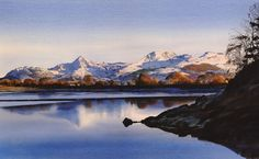 Y Moelwynion, an original watercolour painting by Rob Piercy