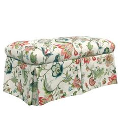 Shop for Skyline Furniture Brissac Jewel Red/Green/Cream Pine/Polyurethane/Linen/Rayon Skirted Storage Bench. Get free shipping at Overstock.com - Your Online Furniture Outlet Store! Get 5% in rewards with Club O! - 19304354