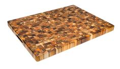 Teak Cutting Board: RECTANGLE END GRAIN WITH HAND GRIPS 25 X 18 X 1.5