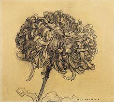 Chrysanthemum,  Piet Mondrian, 1908-09 charcoal on paper Guggenhiem ZsaZsa Bellagio – Like No Other: Home Sweet Home