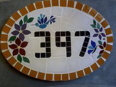 Número De Casa Em Mosaico - R$ 95,00 no MercadoLivre