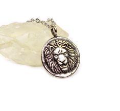 Lion Silver Necklace, Roman Lion, Silver Sun, Silver Medallion Necklace, ancient roman coin necklace - gift for HIM - minimal necklace Coin Necklace, Coin Jewelry, Necklace Price, Ancient Roman Coins, Ancient Romans, Coin Pendant, Gold Pendant Necklace, Alchemy Symbols, Gold Medallion