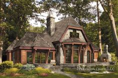 French Country Log Homes From the Home Decor Discovery Community at www.DecoandBloom.com