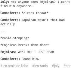 OMG. Yes. So les Amis.