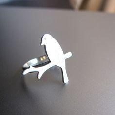 smilingsilversmith : Alighted Bird Ring - Handmade Silver Rings   Sumally