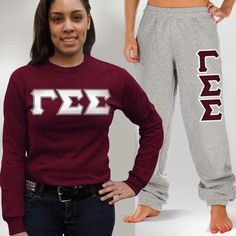 Something Greek - Gamma Sigma Sigma Longsleeve / Sweatpants Package - TWILL