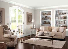 Front room paint ideas living room and hallway paint colors best Hallway Paint Colors, Behr Paint Colors, Room Paint Colors, Paint Colors For Living Room, Wall Colors, Casual Living Rooms, My Living Room, Living Room Decor, Cozy Living