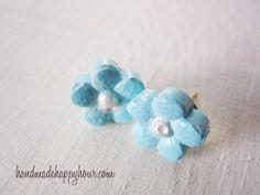 Dainty earrings made with Mod Melt daisies.