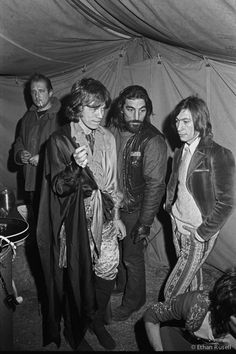 Ethan Russell: Mick Jagger and Charlie Watts Backstage with Hell's Angels at Altamont 1969