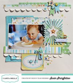 Love Timmy layout by Susan Stringfellow #cartabellapaper