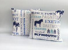 Devon Gift Devon Cushion Dartmoor Cushion Cushions for Sofa Horse Caravan Cushion Seaside Cushion Blue Cushion Free Shipping Nautical Cushions, Blue Cushions, Printed Cushions, Cushions On Sofa, Throw Pillows, Cushion Pads, Cushion Covers, Sea Party Food, Seaside Decor
