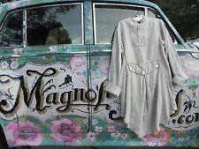 Magnolia Pearl Homespun European Linen Jacket with Tails Coat Unique Art to Wear