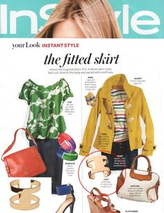 (March 2012) @InStyle Magazine: Roma Cuff on page 244