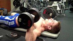 dumbbell bench press - YouTube